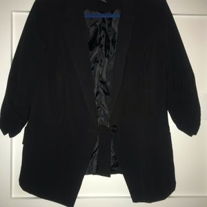 Black 3/4 length blazer